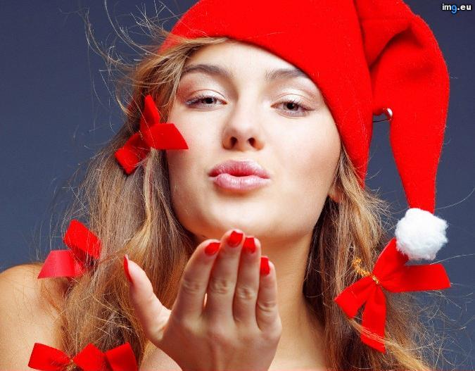 Girls Christmas Girls The Girl On New Year 019127  (hot xmas girl)